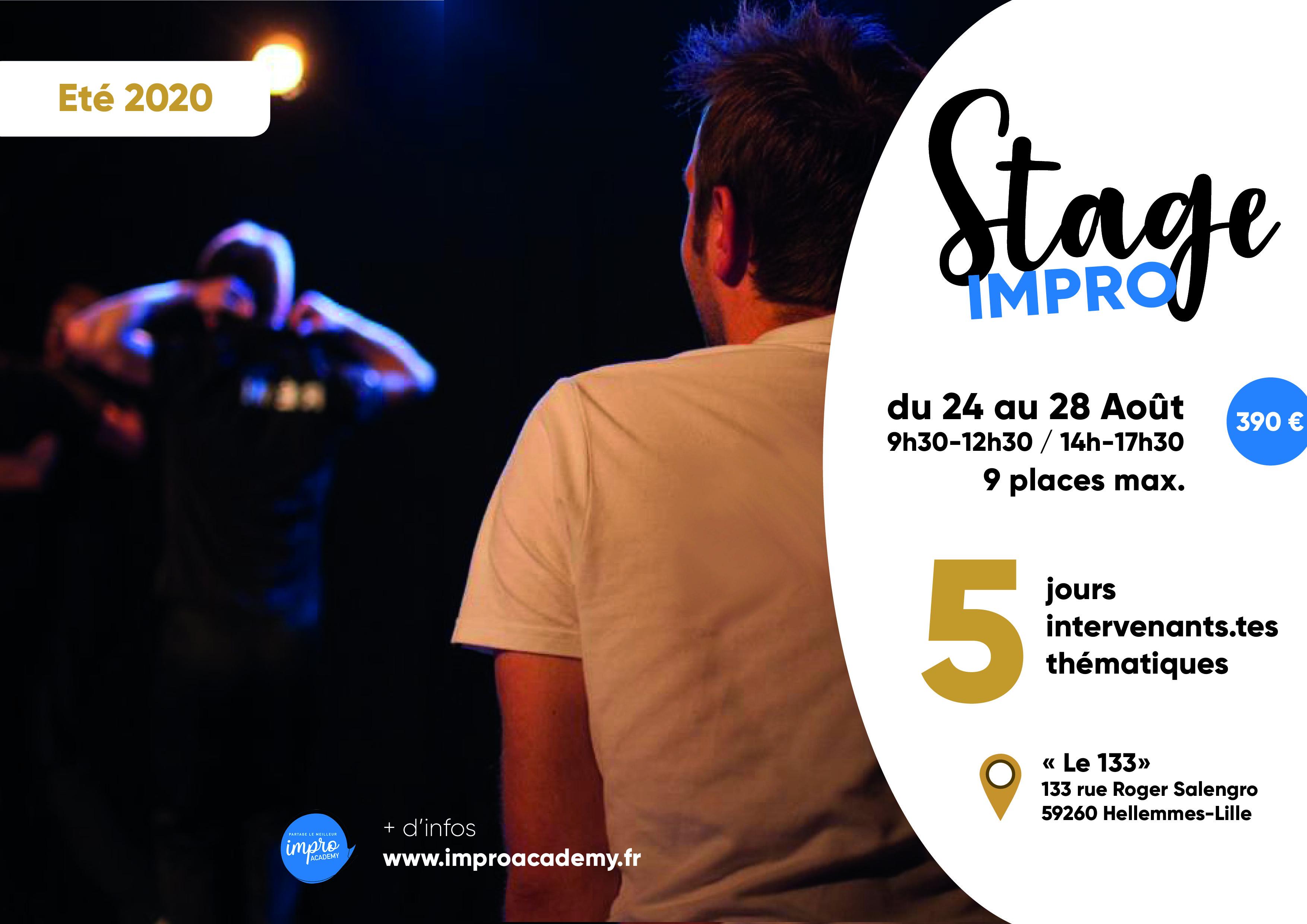 Stage d'impro - 5 thématiques